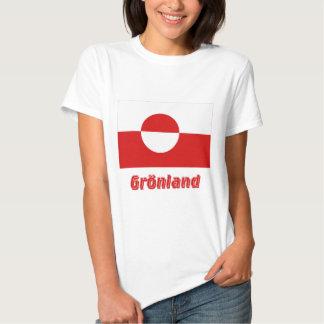 Grönland Flagge mit Namen Tees