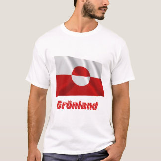 Grönland Fliegende Flagge mit Namen T-Shirt
