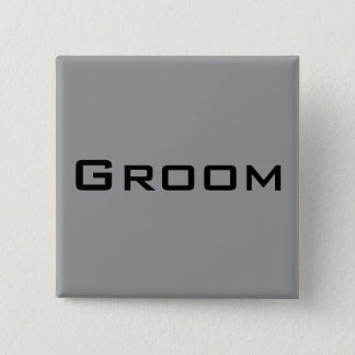 Groom 15 Cm Square Badge
