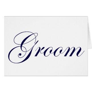 Groom-Blue Greeting Card