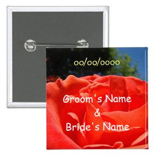 Groom Bride Name button Wedding Favors