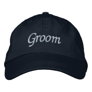 Groom Cap Embroidered Hat