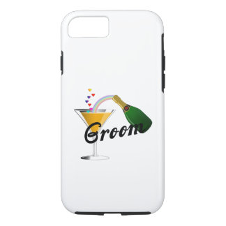 Groom Champagne Toast iPhone 8/7 Case