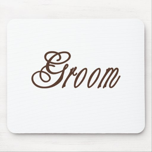 Groom Classy Browns Mouse Pad