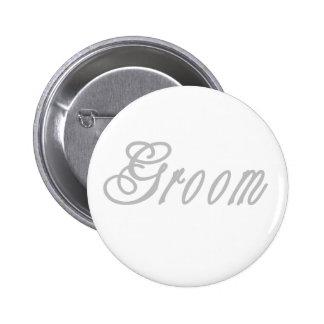 Groom Classy Grays 6 Cm Round Badge