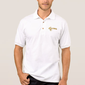 Groom Elegant Gold Look Typography Polo Shirt