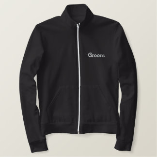 Groom Embroidered Fleece Zip Jogger Jacket
