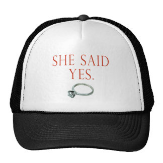 Groom Engagement Gifts and T-shirts Trucker Hat