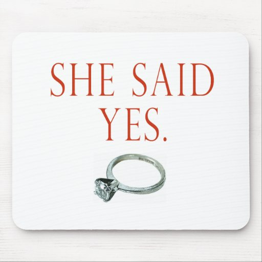 Groom Engagement Gifts and T-shirts Mouse Pad