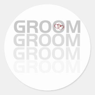 Groom Fade Round Sticker