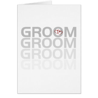 Groom Fade Tshirts and Gifts Greeting Card