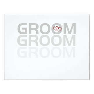 Groom Fade Tshirts and Gifts Personalized Invite