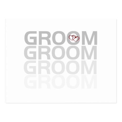 Groom Fade Tshirts and Gifts Postcard