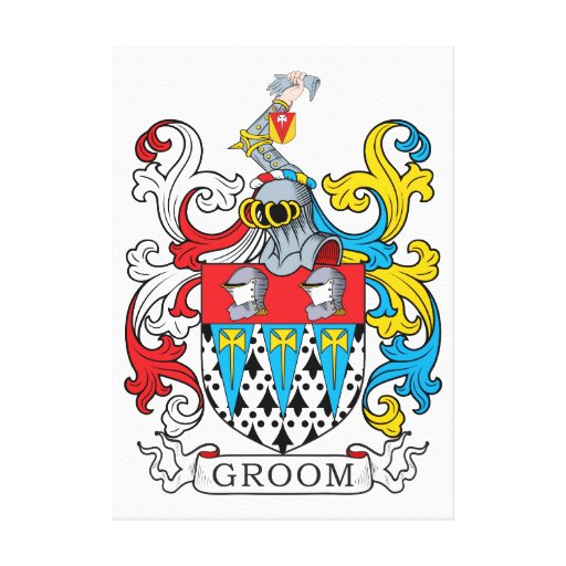 Groom Family Crest Stretched Canvas Prints