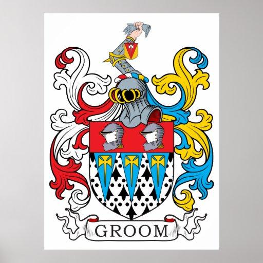 Groom Family Crest Print