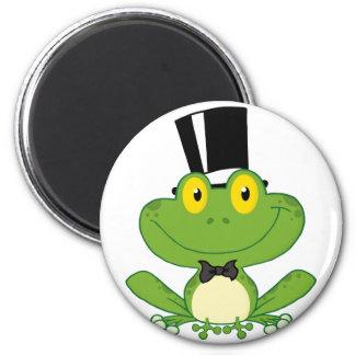 Groom Frog Cartoon Character 6 Cm Round Magnet