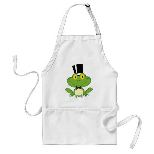 Groom Frog Cartoon Character Apron