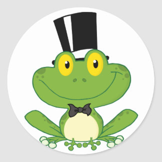 Groom Frog Cartoon Character Stickers