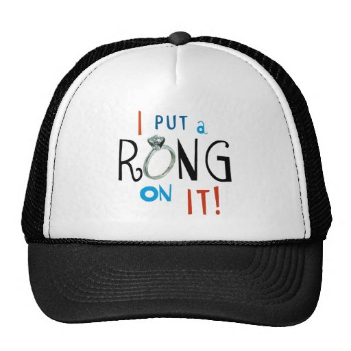 Groom I Put a Ring on It Trucker Hats