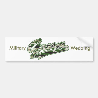Groom/Military Camouflage Green Bumper Sticker