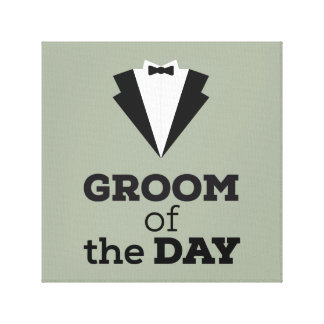 Groom of the Day Ziwph Canvas Print