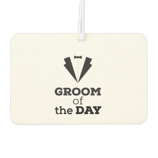 Groom of the Day Ziwph Car Air Freshener