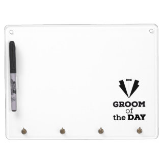 Groom of the Day Ziwph Dry Erase Board With Key Ring Holder