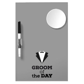 Groom of the Day Ziwph Dry Erase Board With Mirror