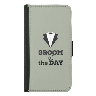Groom of the Day Ziwph Samsung Galaxy S5 Wallet Case