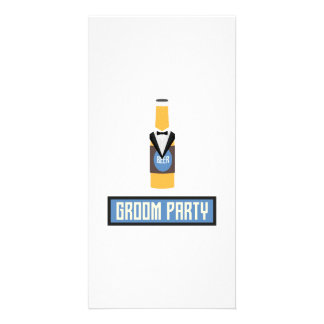 Groom Party Beer Bottle Z77yx Card