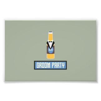 Groom Party Beer Bottle Z77yx Photo Print