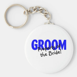 Groom Property Of The Bride Basic Round Button Key Ring