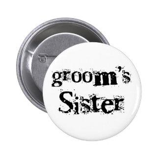 Groom s Sister Black Text Pin