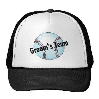 Groom s Team Baseball Trucker Hat