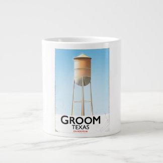 Groom Texas Route 66 Americana travel print Large Coffee Mug