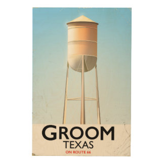 Groom Texas Route 66 Americana travel print Wood Canvases