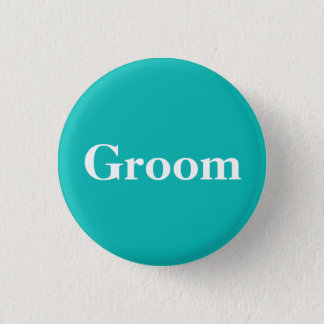 Groom | Tiffany Theme 3 Cm Round Badge