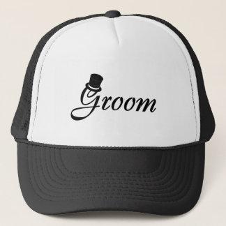 Groom (Top Hat) Trucker Hat