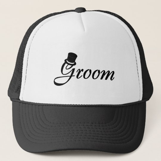 Groom (Top Hat) Trucker Hat