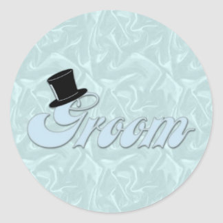 Groom Turquoise Silk Stickers