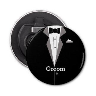 Groom Tuxedo Art Bottle Opener