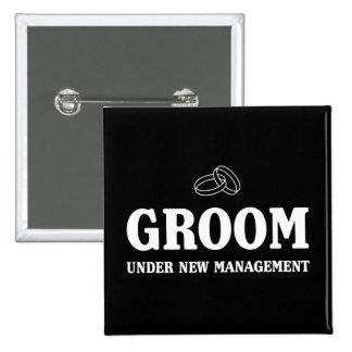 Groom Under New Management 15 Cm Square Badge