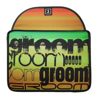 Groom; Vibrant Green, Orange, & Yellow Sleeves For MacBooks