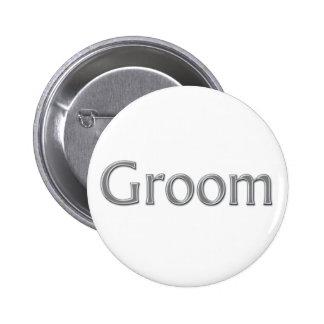 Groom Wedding Button