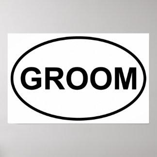 Groom Wedding Oval Poster