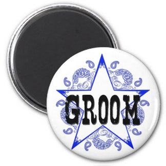 Groom Western Blue Magnet