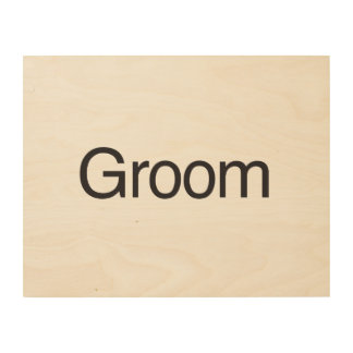 Groom Wood Canvases
