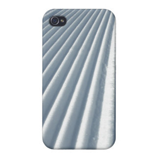 Groomed Snow Ski Trail Cover For iPhone 4