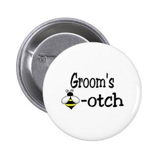 Groom's Bee-otch 6 Cm Round Badge