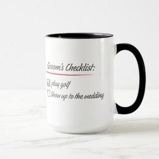 Groom's Checklist Mug